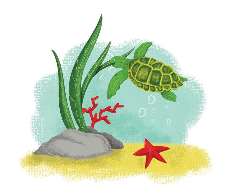 an illustration for children's magazine