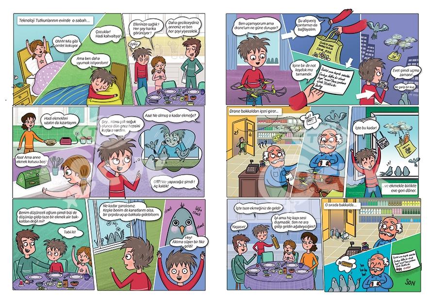 a story written and drawn my Esra Ilter Demirbilek for a children's magazine of TRT ( Turkish Republic Radio TV association)