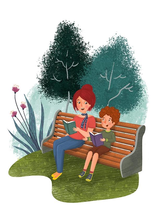 an illustration for a children's magazine