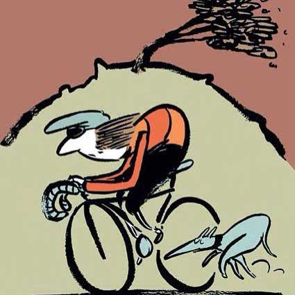 Tour de Yorkshire editorial illustration